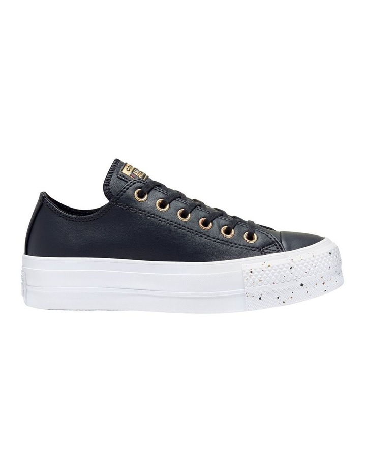 All Star Lift Speckled Ox 566759 Black/Rose Maroon/White Sneaker image 1