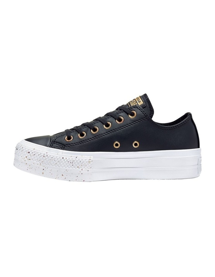 All Star Lift Speckled Ox 566759 Black/Rose Maroon/White Sneaker image 2
