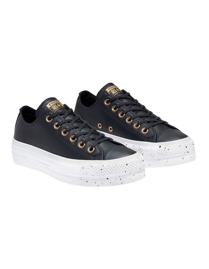 All Star Lift Speckled Ox 566759 Black/Rose Maroon/White Sneaker image 4