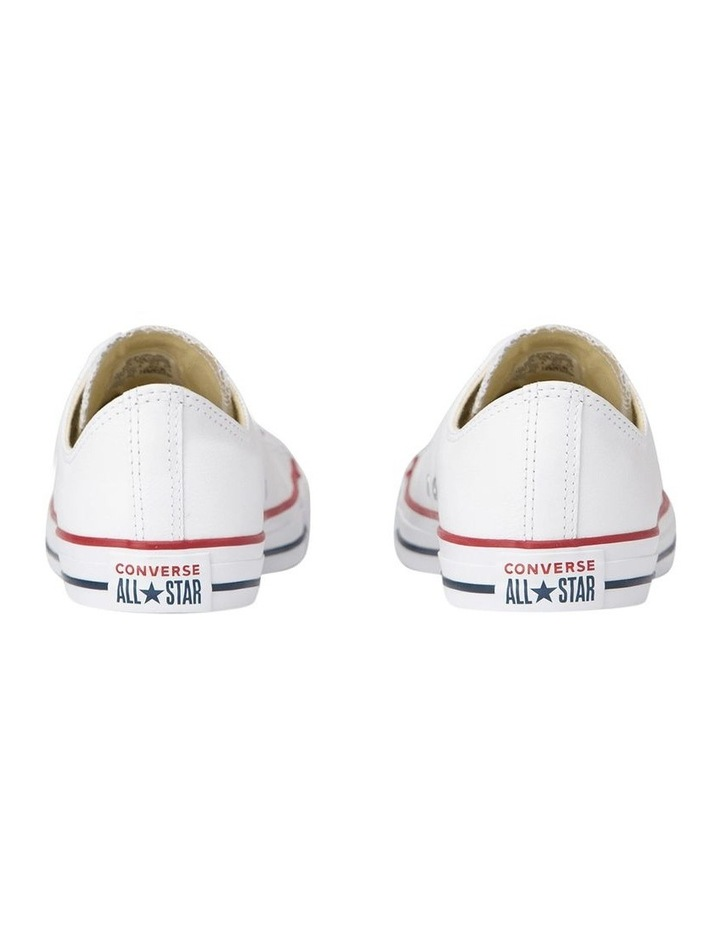 Chuck Taylor All Star White Leather Low Womens image 4