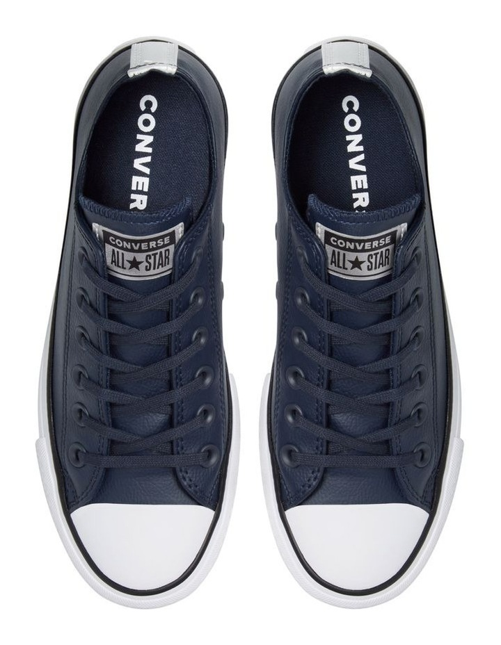 Chuck Taylor Leather Low Lift Obsidian 570453 image 3