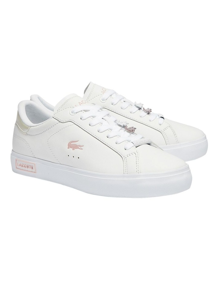 Women's Powercourt Leather Iridescent Detail Trainers image 2