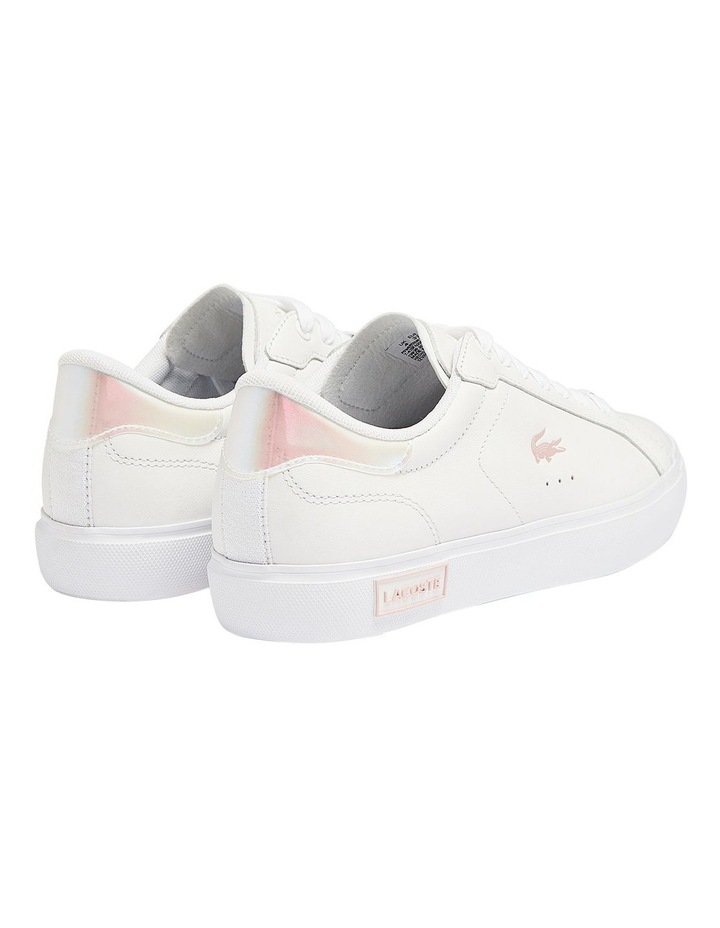 Women's Powercourt Leather Iridescent Detail Trainers image 3