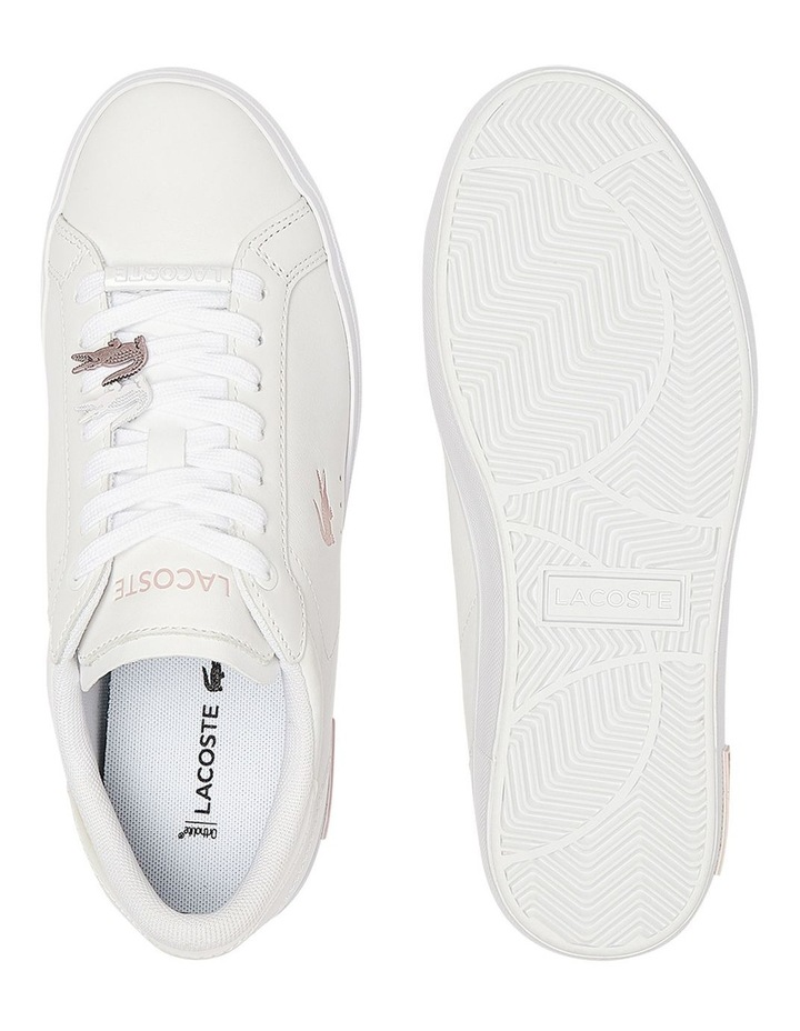 Women's Powercourt Leather Iridescent Detail Trainers image 4