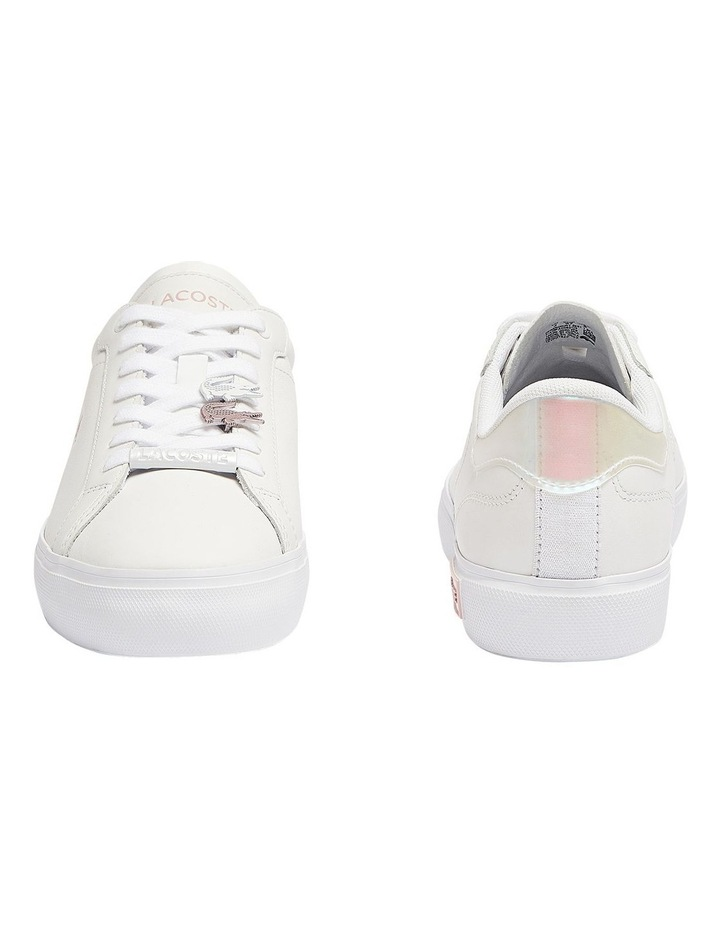 Women's Powercourt Leather Iridescent Detail Trainers image 5