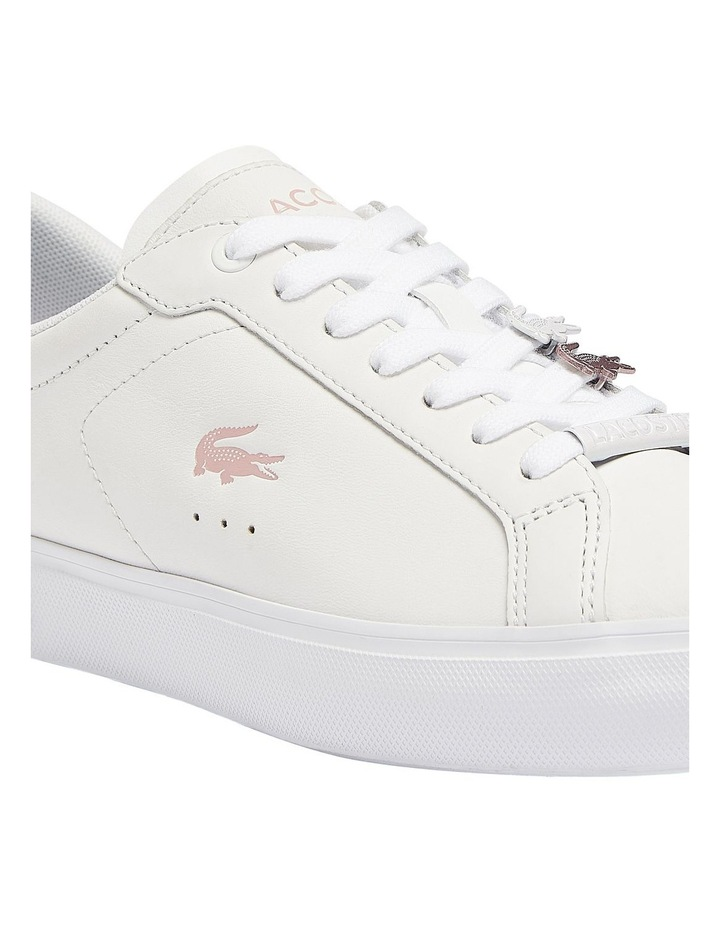 Women's Powercourt Leather Iridescent Detail Trainers image 6