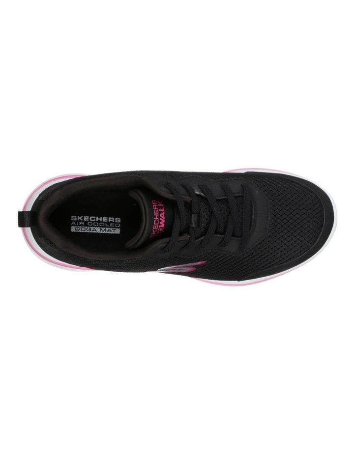 Go Walk 5 Guardian 124011 Bkhp Black/Hot Pink Sneaker image 4