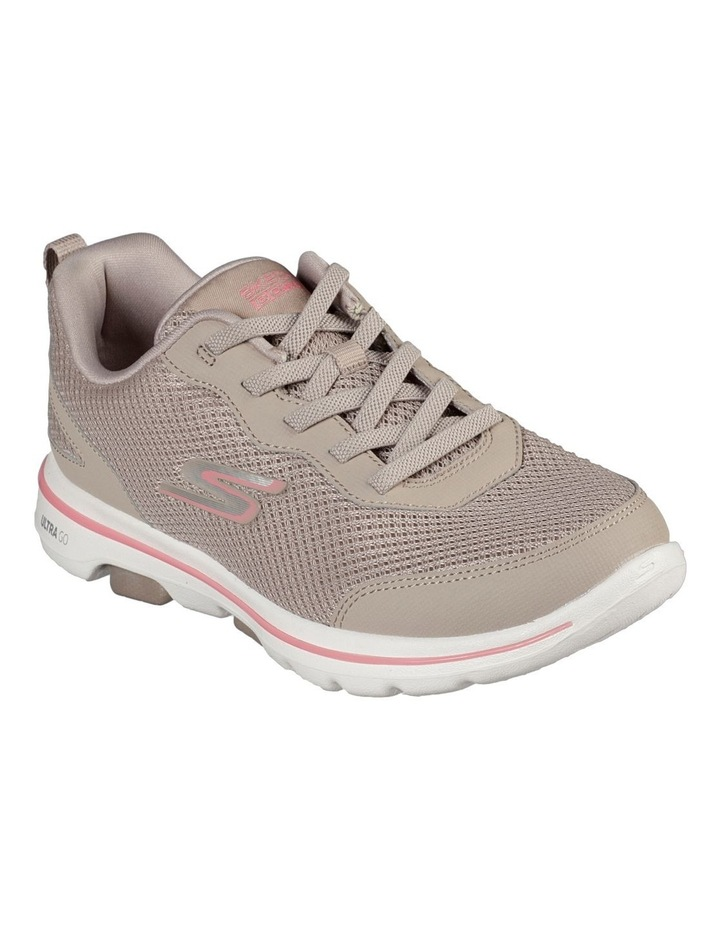 Go Walk 5 - Guardian 124011 Tpcl Taupe/Coral Sneaker image 2