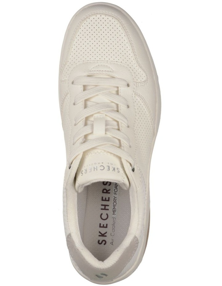 Upbeats Subtle Stripes White Sneaker image 4