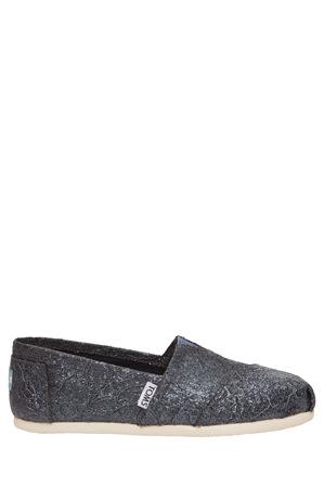 TOMS - Alpargata (10009297) Pewter Lace Glitz Sneaker