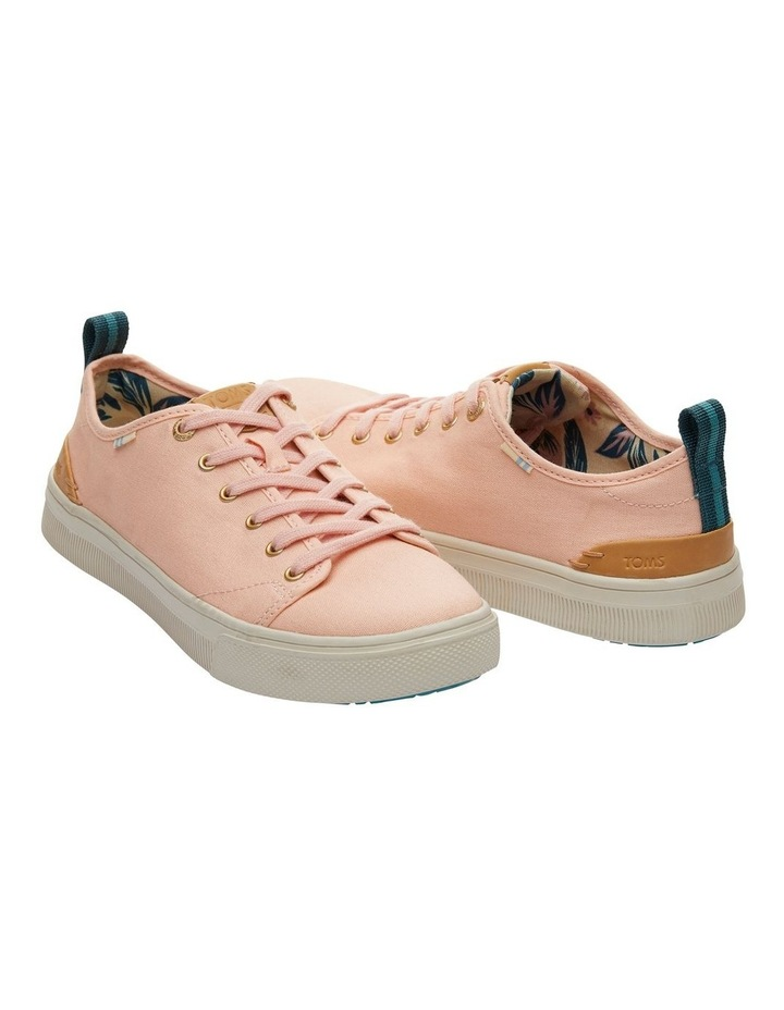 Coral Pink Canvas TRVL LITE Low Women's Sneakers image 2