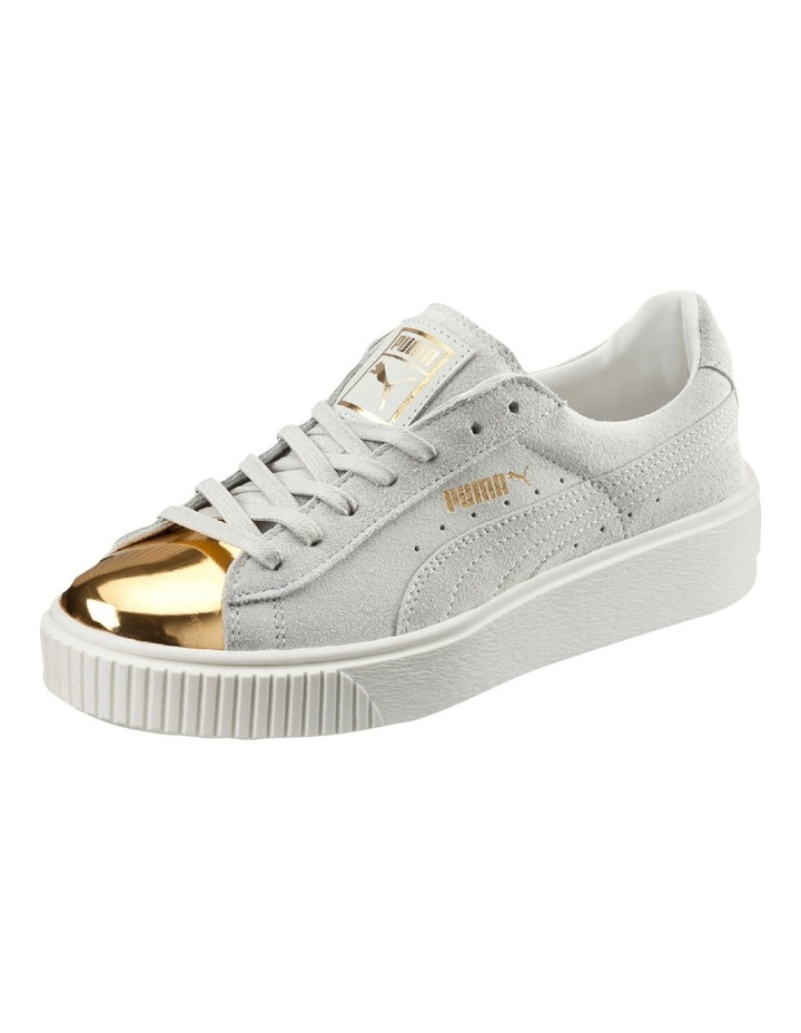 Suede Creeper White Gold Sneaker image 2