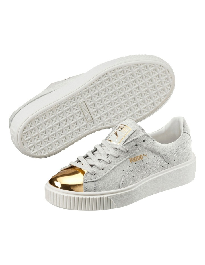Suede Creeper White Gold Sneaker image 3