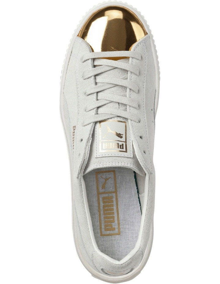 Suede Creeper White Gold Sneaker image 4