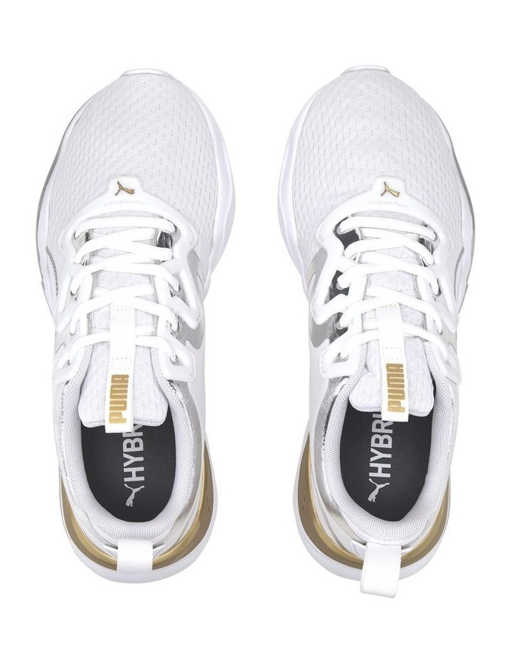 Zone XT Metal Womens 193032 01 White-Metallic Gold Sneaker image 2