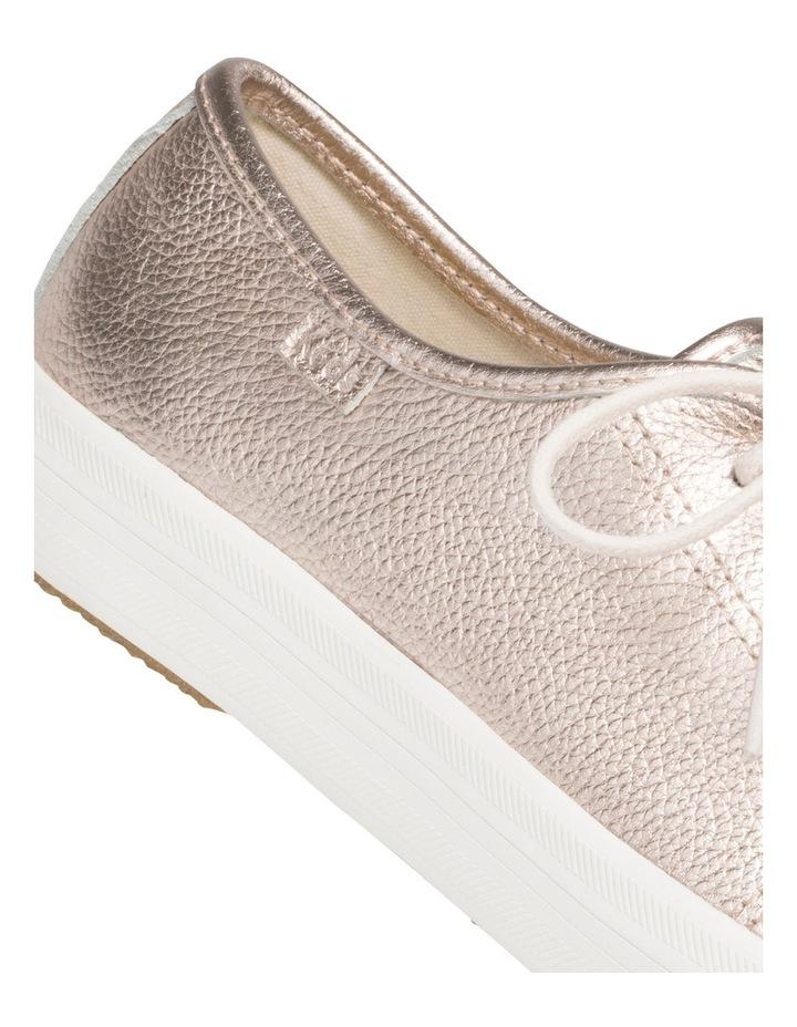 Kickstart Metallic Tumbled Leather Rose Gold Sneaker WH60365 image 4