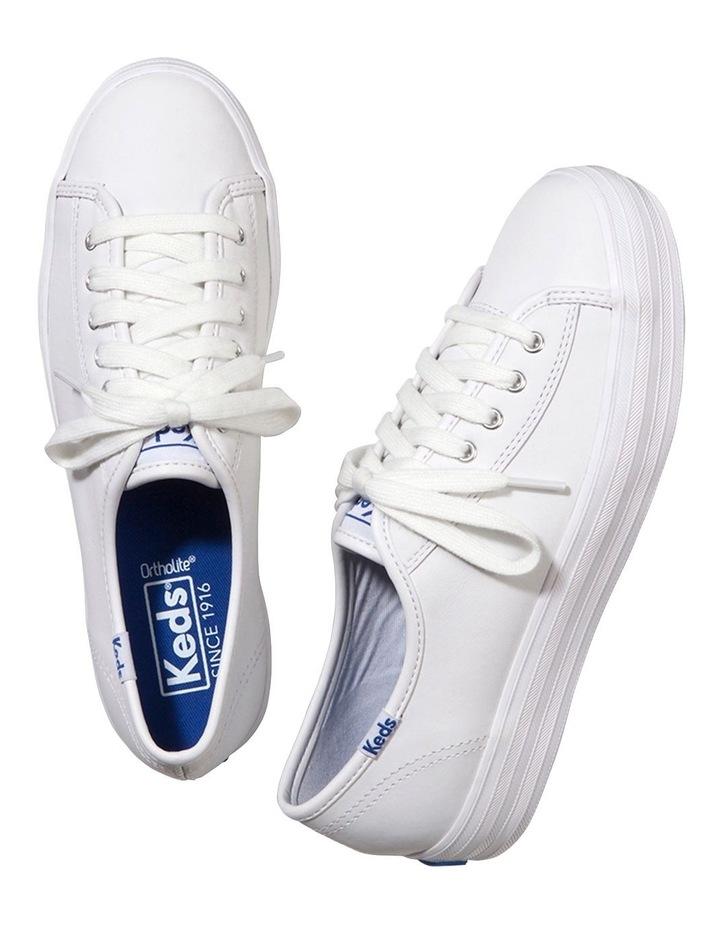 Triple Kick White Leather Flatform Sneaker image 2