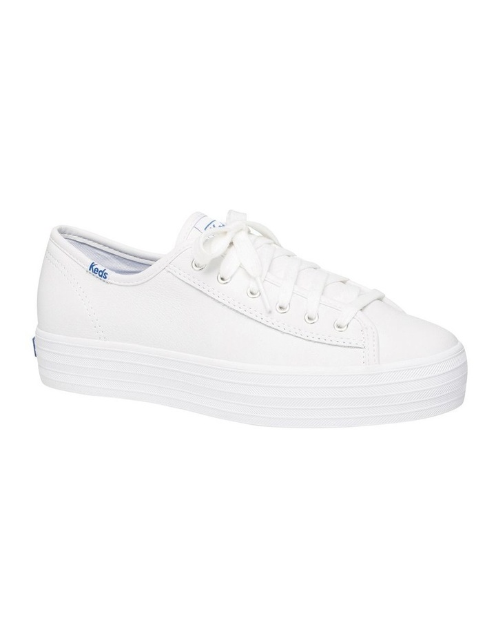 Triple Kick White Leather Flatform Sneaker image 3