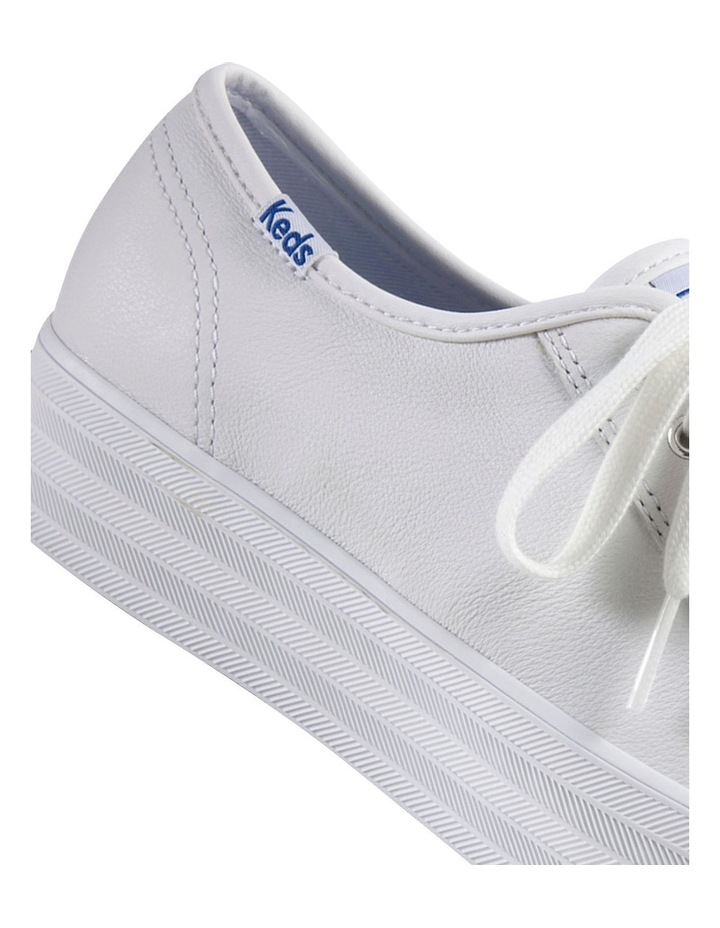 Triple Kick White Leather Flatform Sneaker image 5