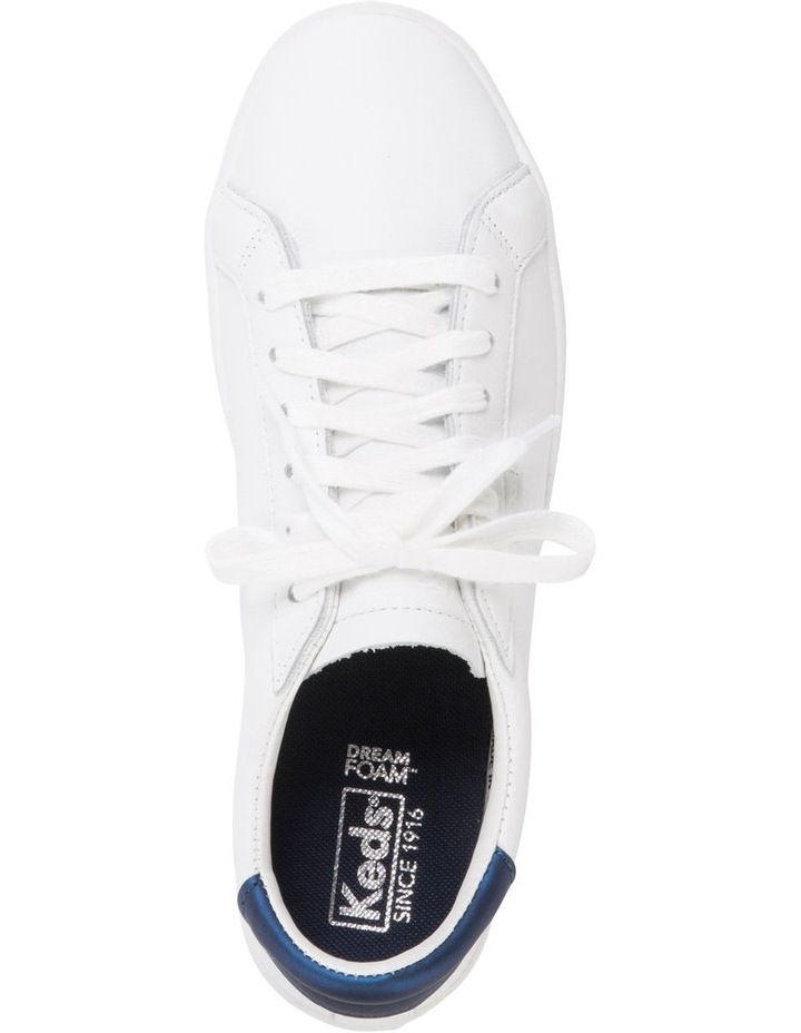 Ace WH61496 White Leather/Navy Sneaker image 4