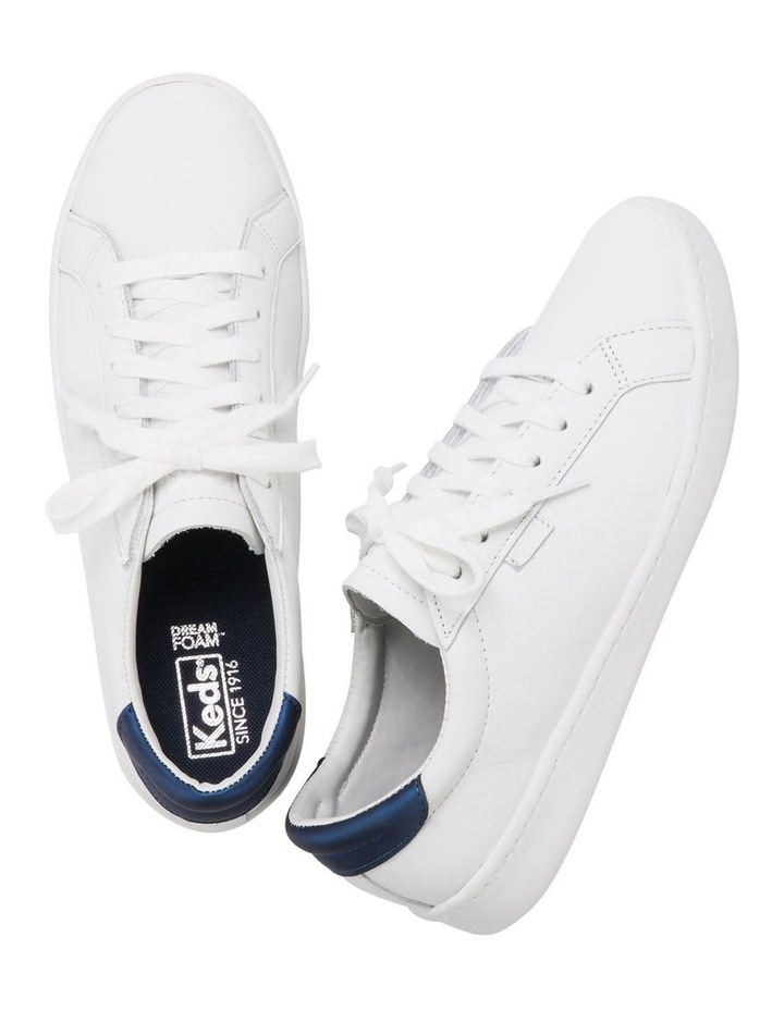 Ace WH61496 White Leather/Navy Sneaker image 5