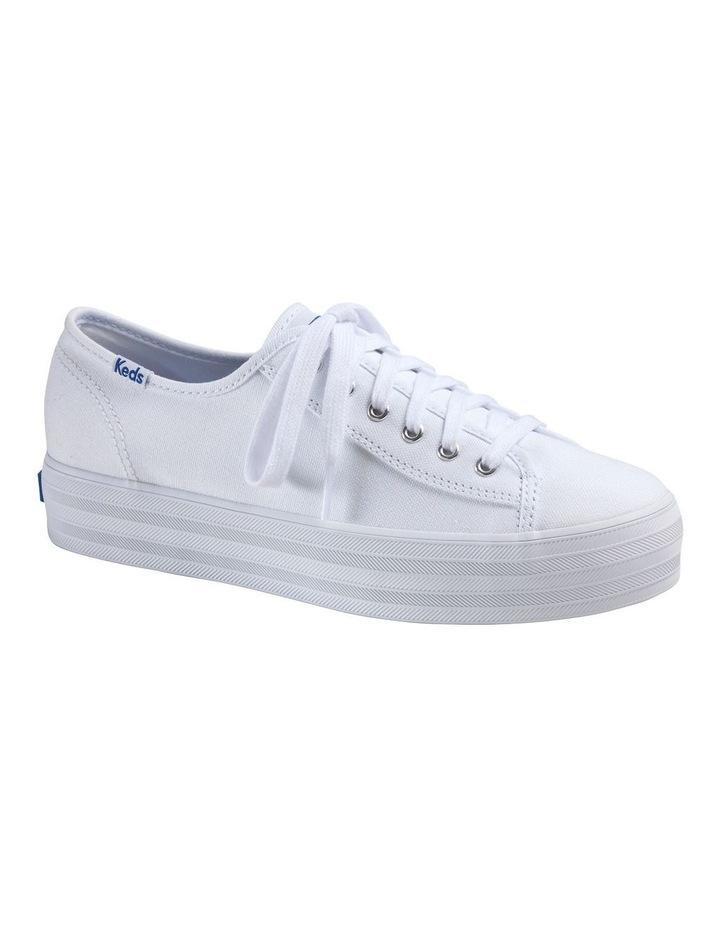 Triple Kick WF57306 White Canvas Sneaker image 1