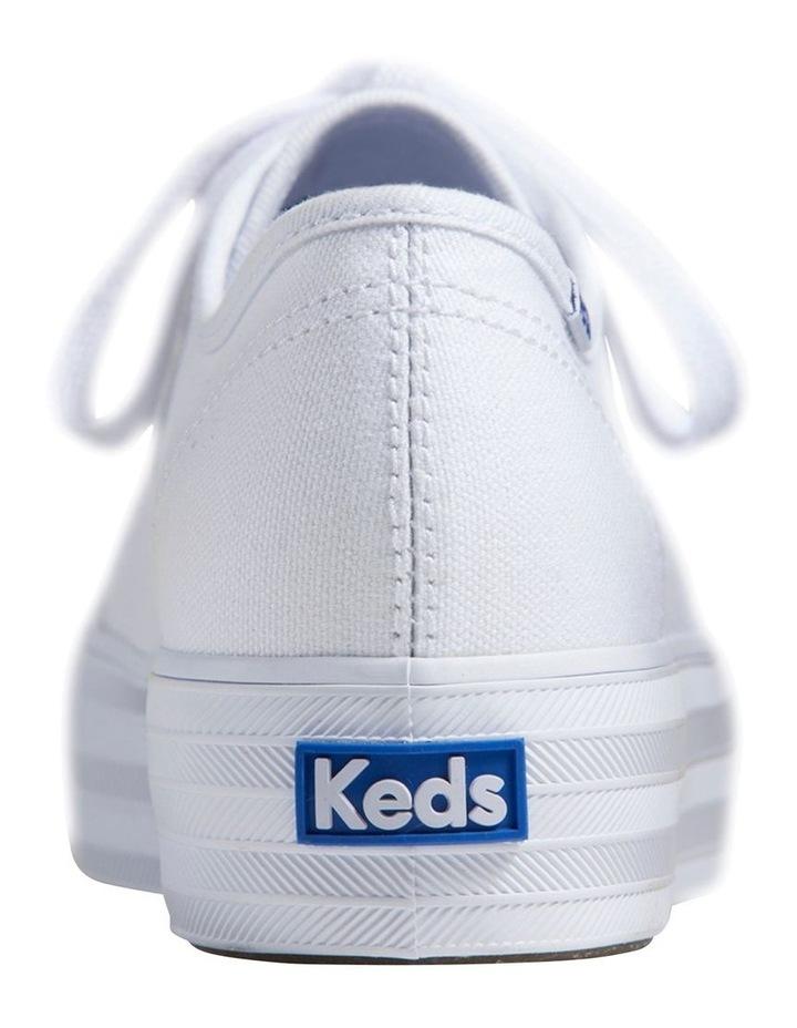 Triple Kick WF57306 White Canvas Sneaker image 4