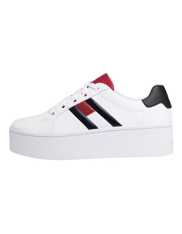 afc00fb18a55 Tommy Jeans Leather Platform Trainers