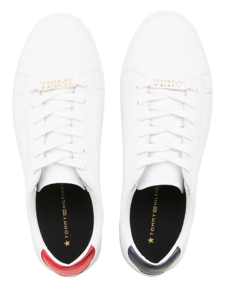 Metallic Back Lace-Up Trainers image 3