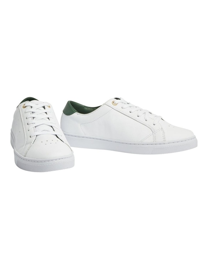 Tommy Lace Up Casual Sneaker White/Black Forest image 1