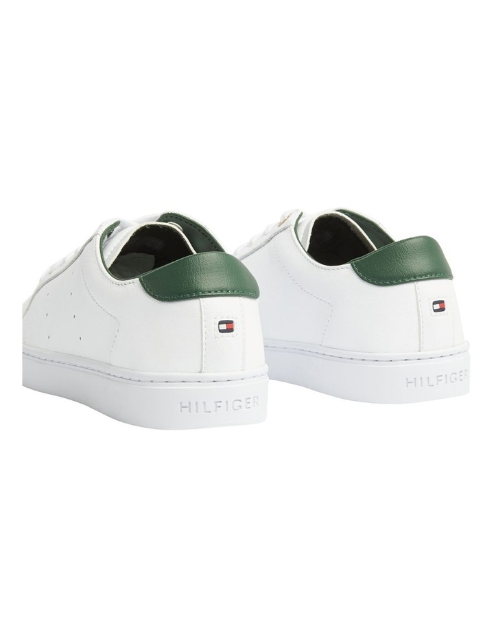 Tommy Lace Up Casual Sneaker White/Black Forest image 4