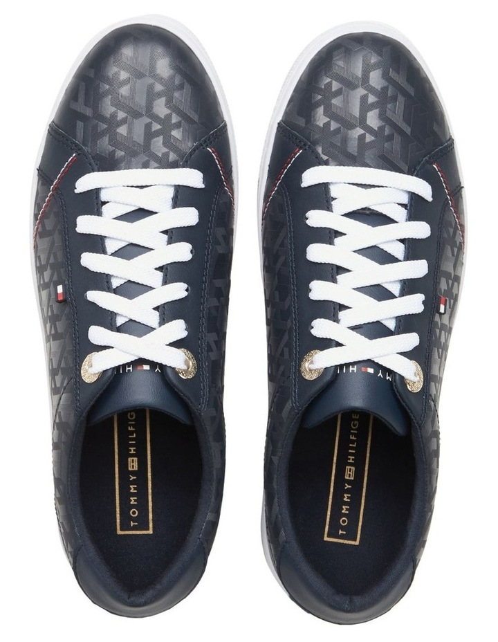 Jacquard Leather Trainers image 2