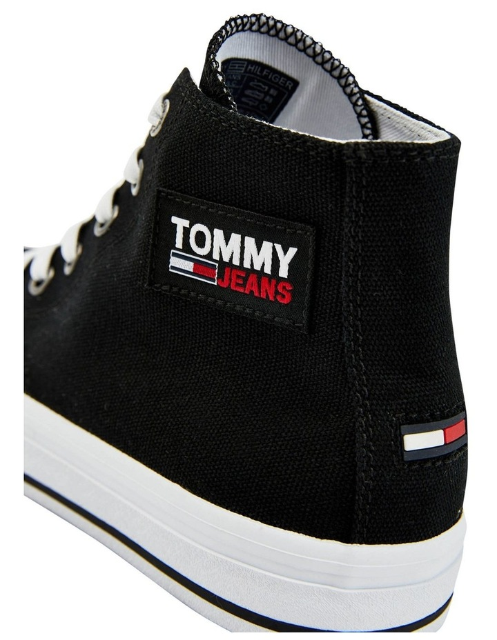 Vulcanised High-Top Black Lace-Up Sneaker image 2