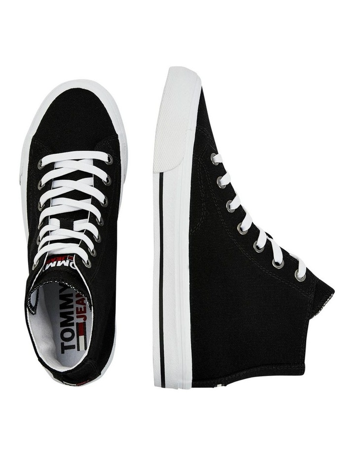 Vulcanised High-Top Black Lace-Up Sneaker image 4