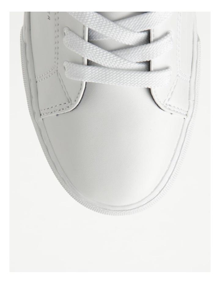 Back Logo White Lace-Up Sneaker image 2