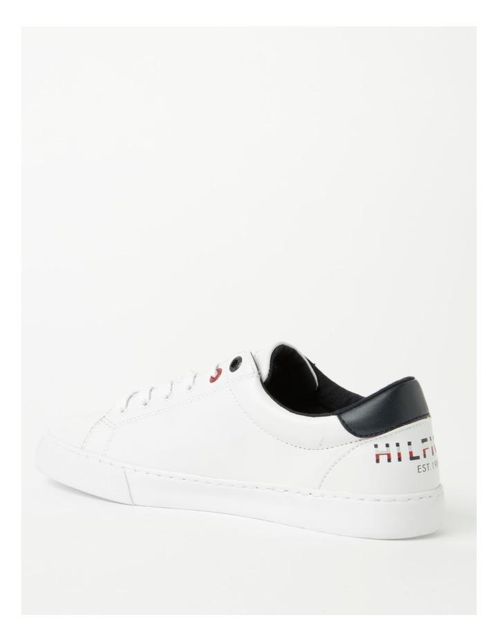Back Logo White Lace-Up Sneaker image 3