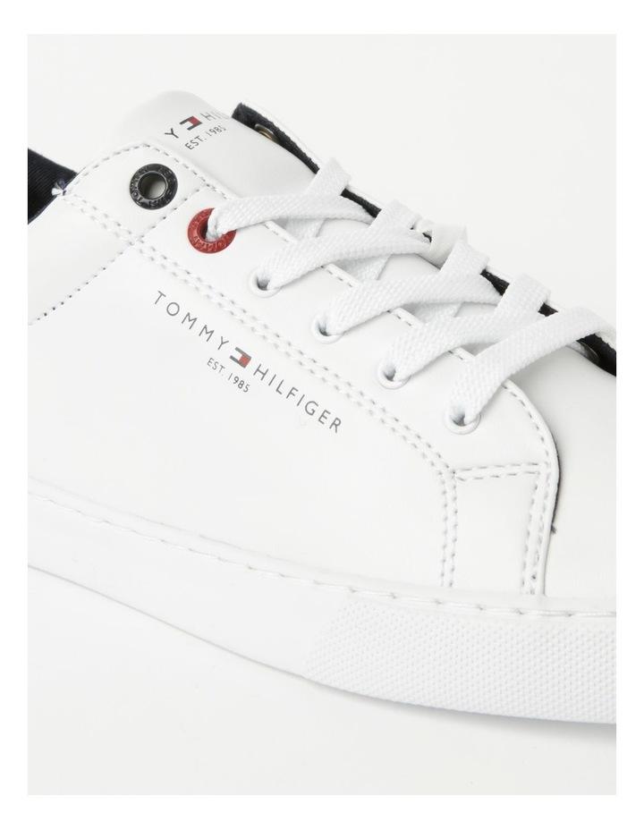 Back Logo White Lace-Up Sneaker image 4