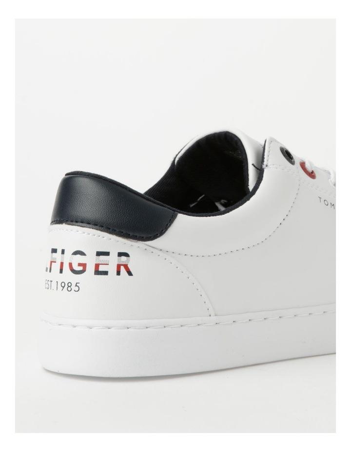 Back Logo White Lace-Up Sneaker image 5
