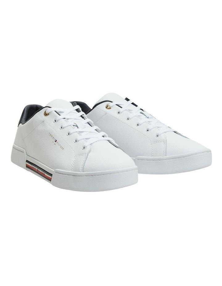 Stripe Insert White Sneaker image 1