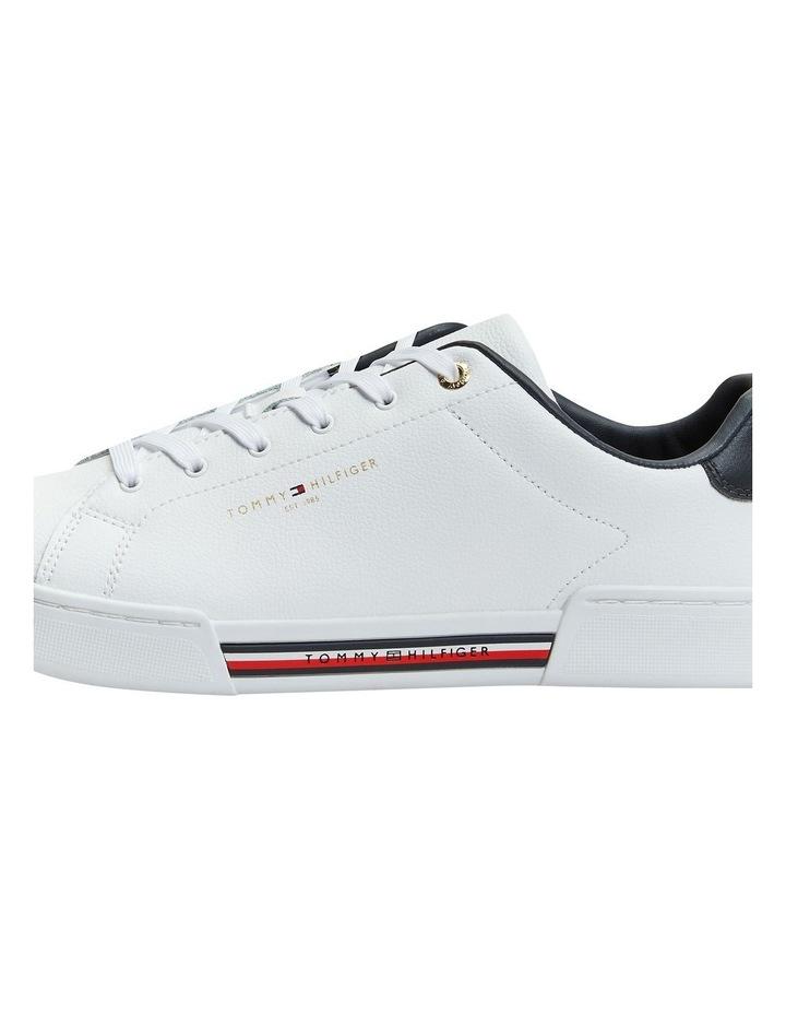 Stripe Insert White Sneaker image 3