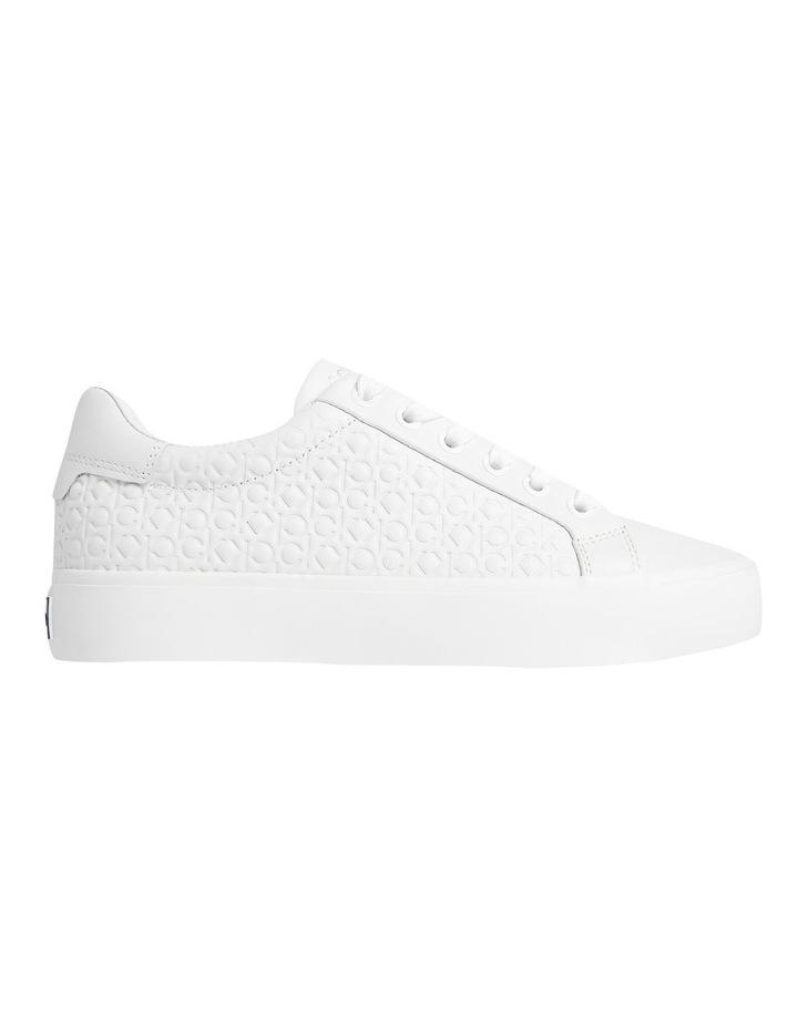 Vulc Lace Up Emboss Mono White Sneaker image 1