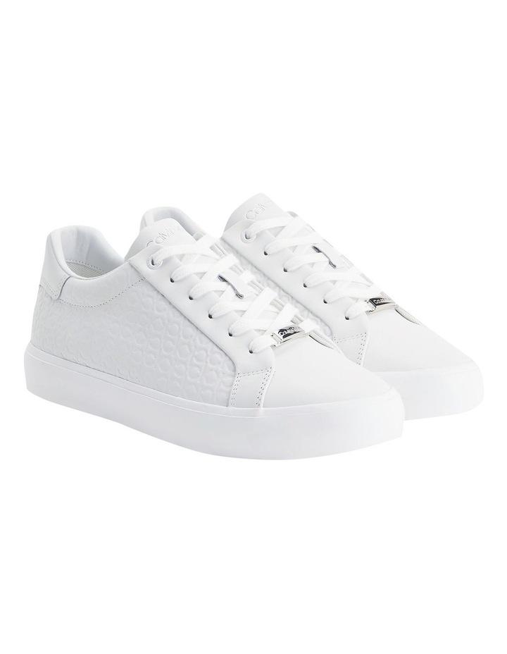Vulc Lace Up Emboss Mono White Sneaker image 2