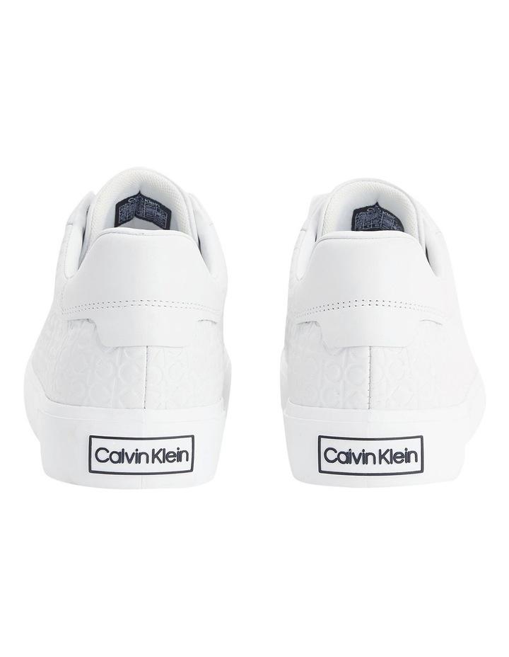 Vulc Lace Up Emboss Mono White Sneaker image 3