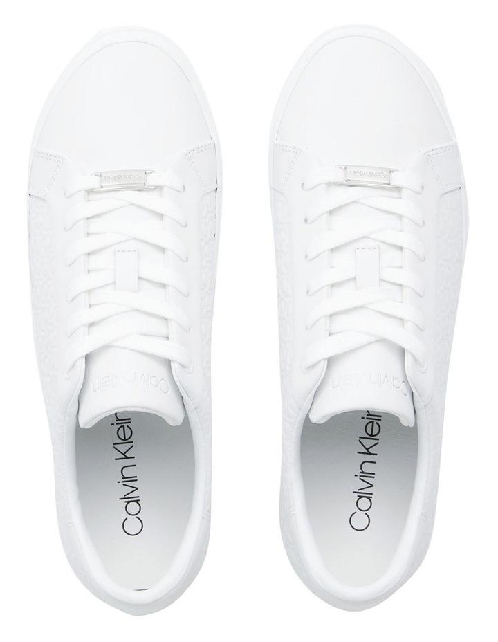 Vulc Lace Up Emboss Mono White Sneaker image 5