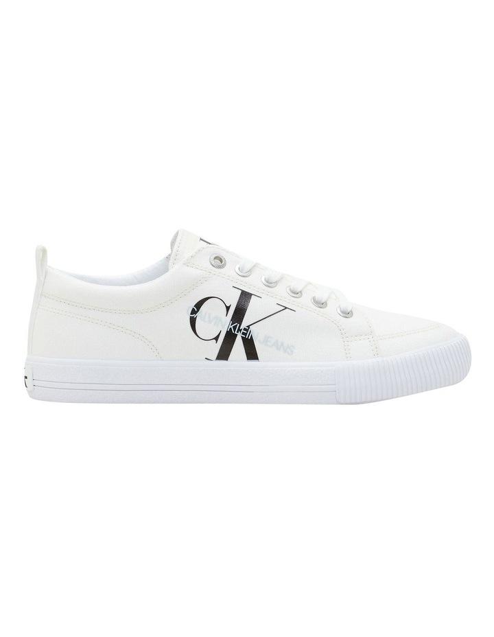 Vulcanized Triple White Laceup Sneaker image 1
