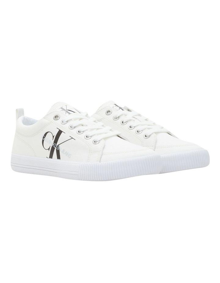 Vulcanized Triple White Laceup Sneaker image 2