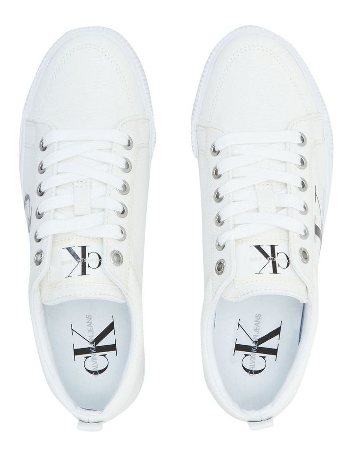 Vulcanized Triple White Laceup Sneaker image 3
