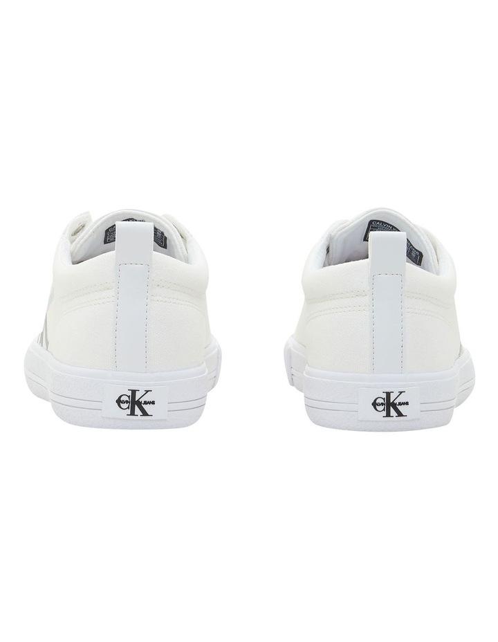 Vulcanized Triple White Laceup Sneaker image 4