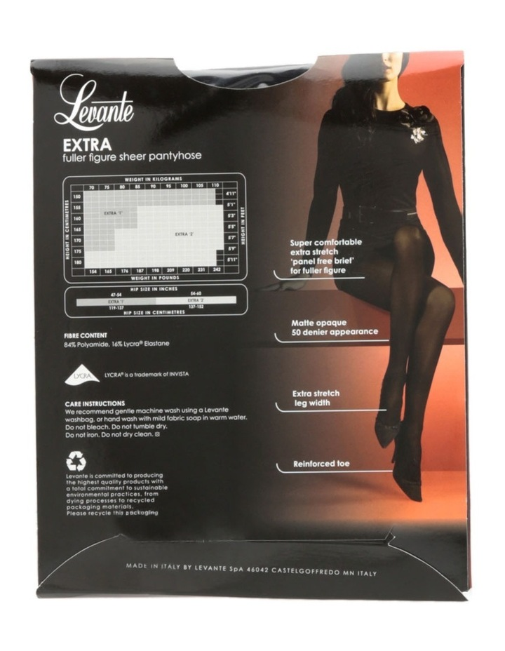 Extra Fuller Figure Opaque Tights OPAEXPH image 4