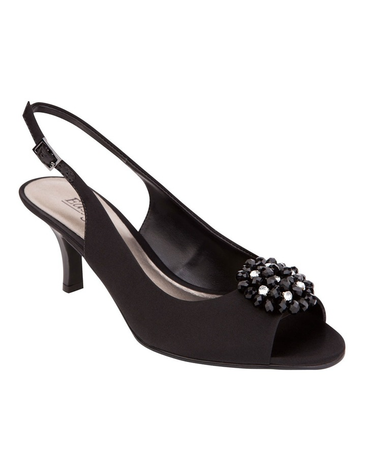Anissa Black Silk Sandal image 2